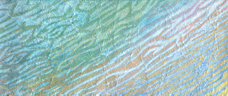 Miriam Louisa Simons: Aquascape series, acrylic on textured canvas