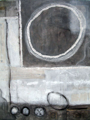 Carole Leslie: artworks - Buddhas, bowls, and abstracts