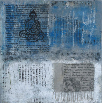 Carole Leslie: artworks - Buddhas, bowls and abstracts
