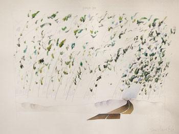 Robert Sinclair: Poplar Run, watercolor