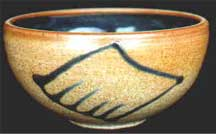 Colin Drake: wood fired, salt glazed bowl
