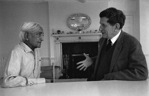 J Krishnamurti and David Bohm