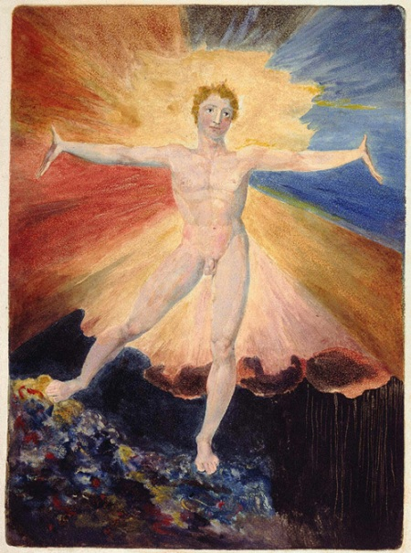 William Blake: Albion Rose, from The Large Book of Designs copy A. © Copyright the Trustees of the British Museum.