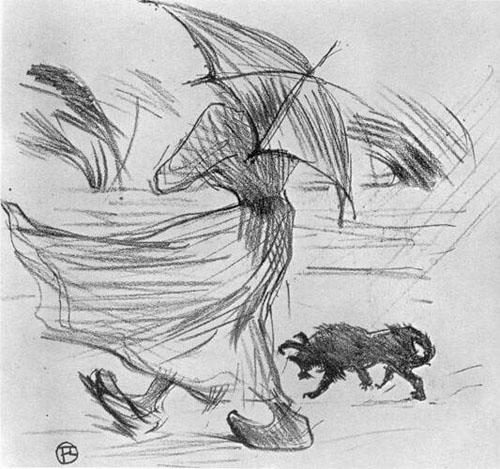 Henri de Toulouse-Lautrec: Ce qui dit la pluie