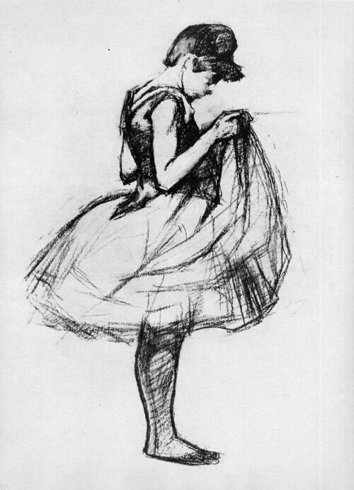 Henri de Toulouse-Lautrec:  Drawing of a Young Woman