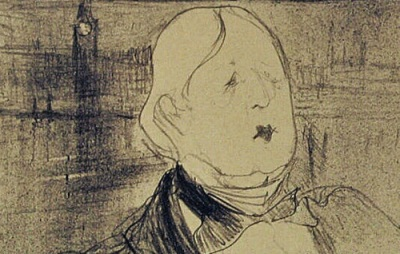 Henri de Toulouse-Lautrec: Drawing of Oscar Wilde, 1896