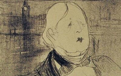 Henri de Toulouse-Lautrec: Drawing of Oscar Wilde, 1896
