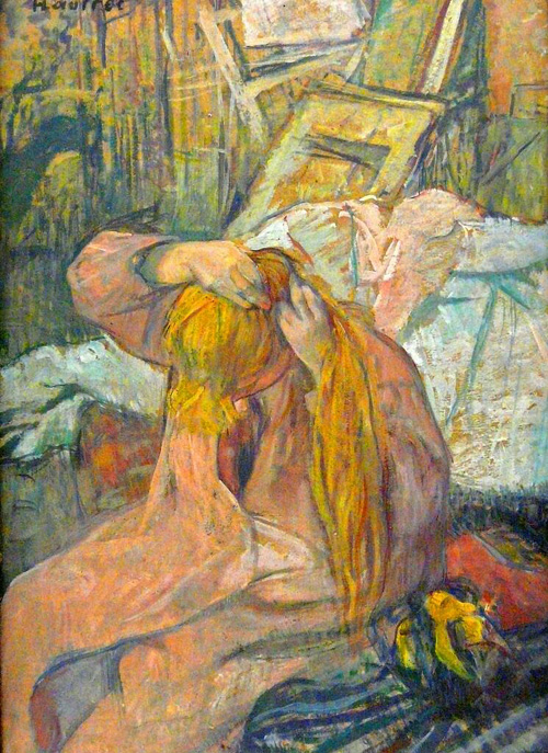 Henri de Toulouse-Lautrec:  Woman Arranging her Hair, 1891