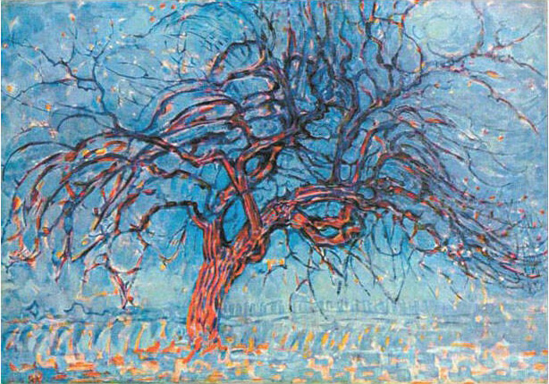 Piet Mondrian: The Red Tree (Evening), 1908 - 10, Oil on Canvas