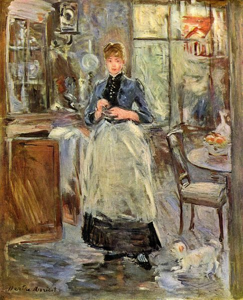 Berthe Morisot, In the Dining Room, 1875, 61.3x50cm, National Gallery of Art, Washington D.C.