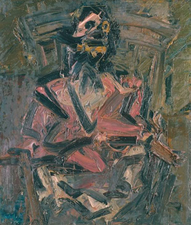 Frank Auerbach J.Y.M. Seated No. 1 1981, 711 x 610 mm Collection of the Tate