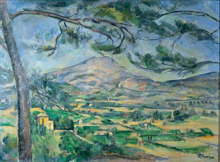 Paul Cézanne, Mont Sainte-Victoire c. 1887 oil on canvas 26.4 × 36.2 inches Courtauld Institute of Art