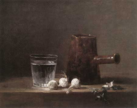 Jean-Baptiste-Siméon Chardin, Water Glass and Jug c. 1760 Oil on canvas, 32,5 x 41 cm Museum of Art, Carnegie Institute, Pittsburgh