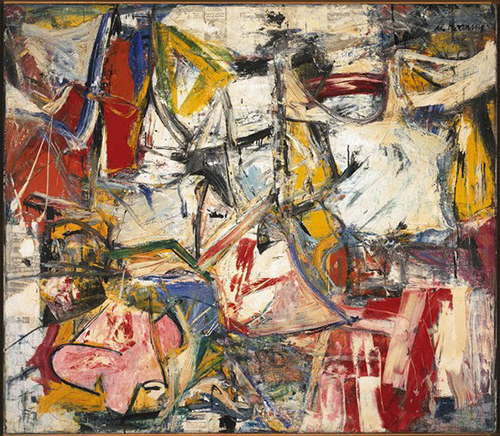 De Kooning, Gotham News, 1955, 69 x 79 inches, Albright-Knox Art Gallery, Buffalo, NY
