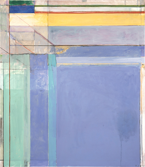 Richard Diebenkorn, Ocean Park #79, 1975, 93 x 81 inches, Philadelphia Museum of Art