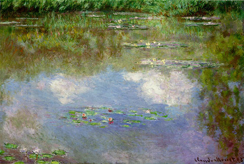 Claude Monet, Water Lilies (The Clouds), 1903, 29.5 x 41.5 inches, private collection