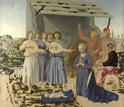 Piero della Francesca, The Nativity, 1470-75, 124.4×122.6cm, National Gallery, London