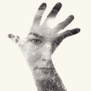 Multiple exposure portrait by Christoffer Relander.