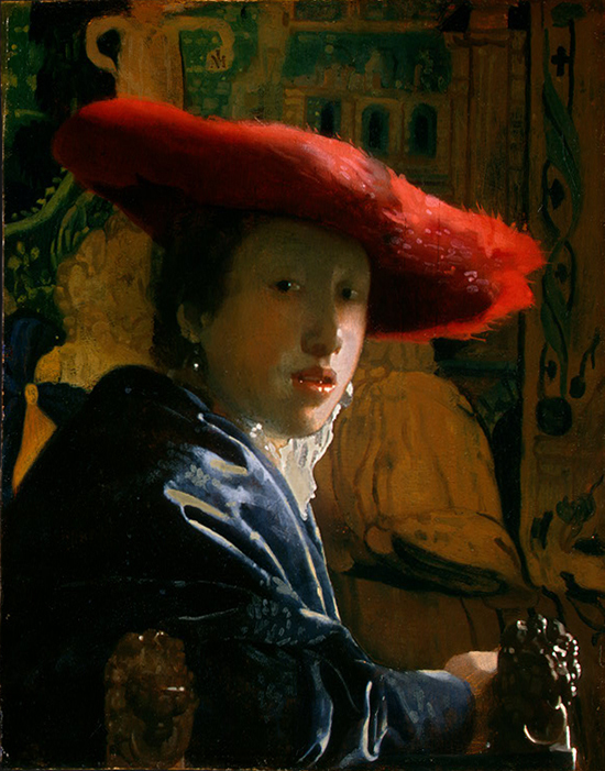 Johannes Vermeer: Girl with the Red Hat
