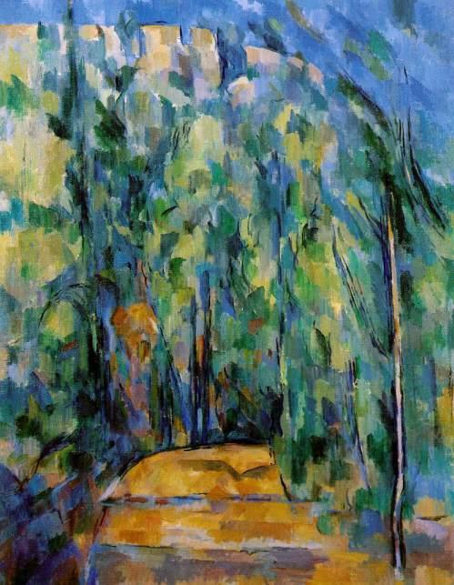 Paul Cezanne: Bend in a Forest Road