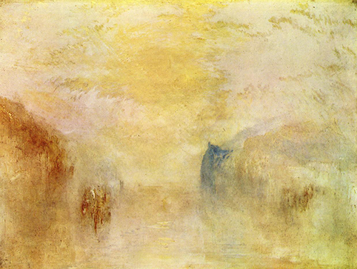 J.M.W. Turner: Sunrise with a Boat between Headlands