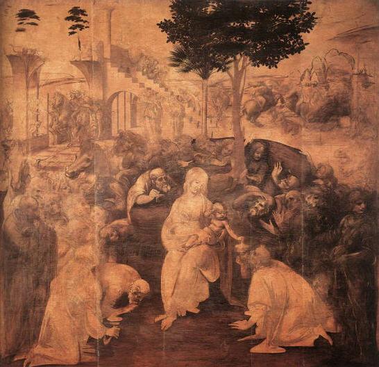 Leonardo da Vinci - Adoration of the Magi