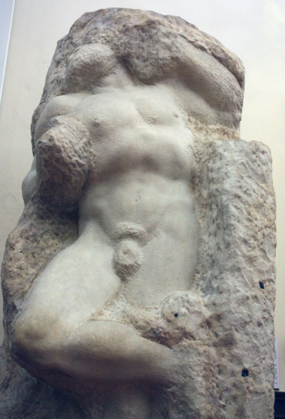 Michelangelo - The Awakening Slave ca 1520 - 1523