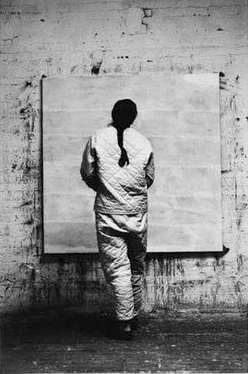 """Agnes Martin: """"I paint with my back to the world."""""""
