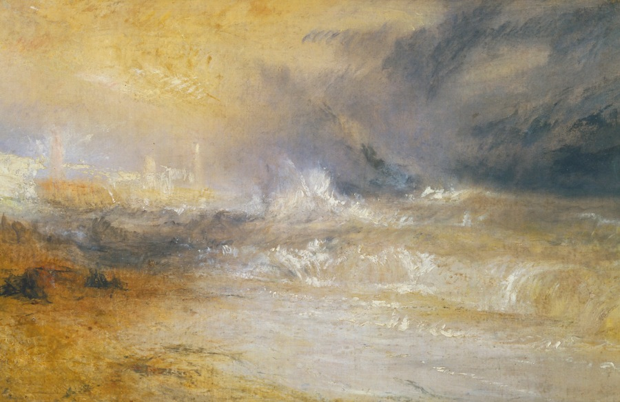 Joseph Mallord William Turner - Waves Breaking on a Lee Shore at Margate c.1840