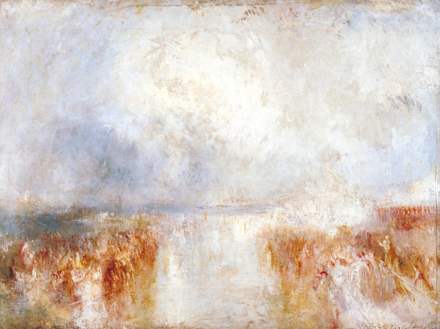 Joseph Mallord William Turner - The Disembarkation of Louis-Philippe at the Royal Clarence Yard, Gosport, 8 October 1844