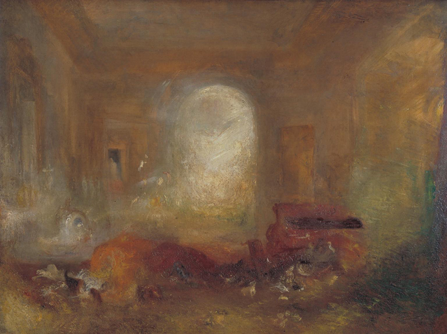 Joseph Mallord William Turner - Interior of a Great House: The Drawing Room, East Cowes Castle c.1830