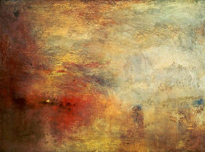 Joseph Mallord William Turner - Sundown Over a Lake