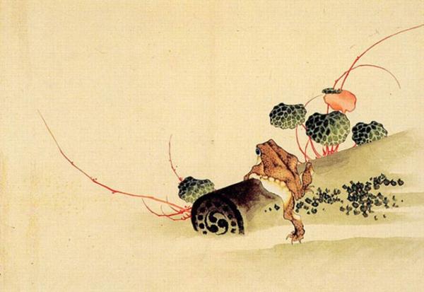 Katsushika Hokusai: Frog On An Old Tile