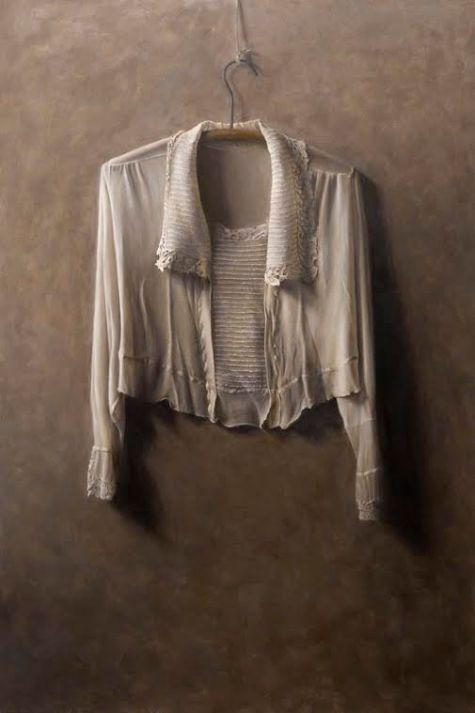 "Bev Byrnes: Blouse, oil on panel, 24""x36"""