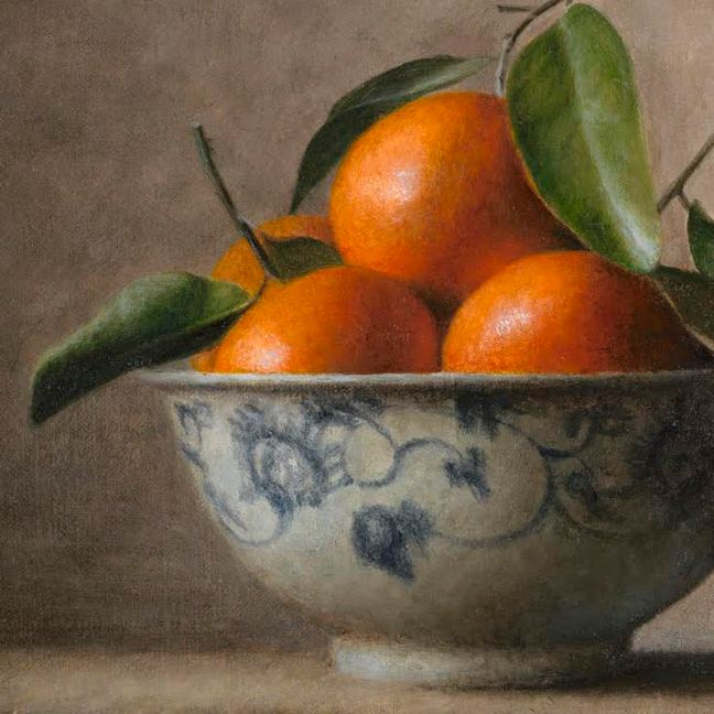 Bev Byrnes: Bowl with Mandarins, detail