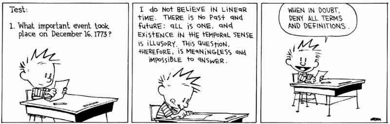 Bill Watterson - Calvin's strategy